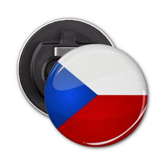 Décapsuleur Représentant rond brillant de Tchèque. Drapeau
