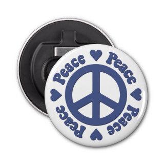 Décapsuleur Signe de paix bleu