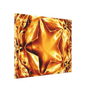 Décor brillant élégant de mur de toile d'étoile