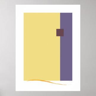 Décor carré de mur d'art moderne de pourpre
