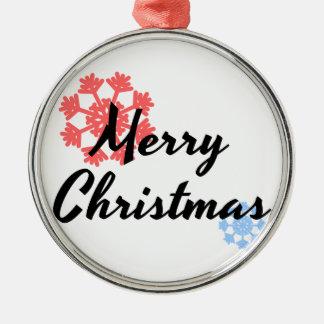 Décor d'arbre de Joyeux Noël Ornement Rond Argenté