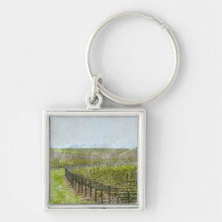 Décor de vin et de raisin porte-clés