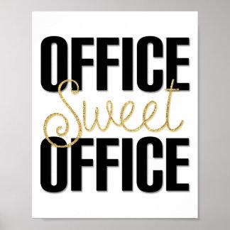 Décor doux d'affiche de bureau de bureau pour le