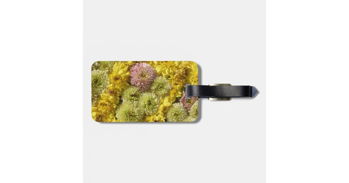 d cor floral tiquette bagage zazzle. Black Bedroom Furniture Sets. Home Design Ideas