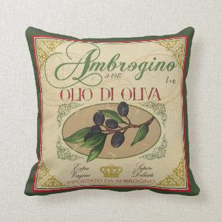 Décor italien de coussin d'huile d'olive de
