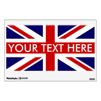 Décoration britannique de décalque d'art de mur de