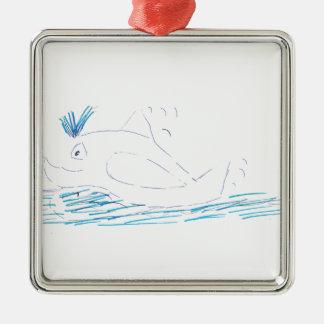 Décoration de Noël en métal de carré de baleine