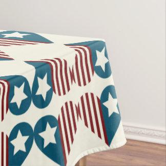 Décoration patriotique de la nappe | 4 juillet
