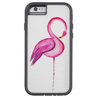 Décoration rose de flamant d'aquarelle coque iPhone 6 tough xtreme
