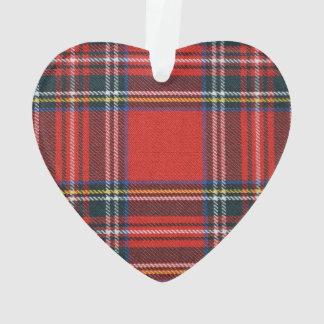 Décoration royale de coeur de tartan de Stewart