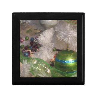 Décoration verte de Noël de babiole Boîtes À Bijoux