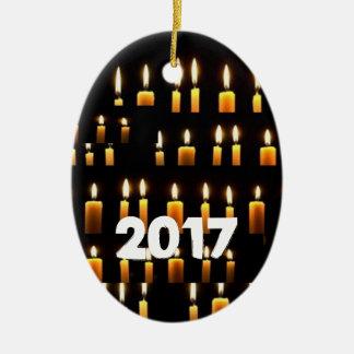 Décorations de bougie de Nameste 2017 NEWYEAR Ornement Ovale En Céramique