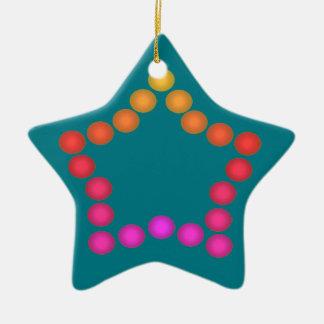 Décorations mignonnes d'étoile de Noël de boules Ornement Étoile En Céramique