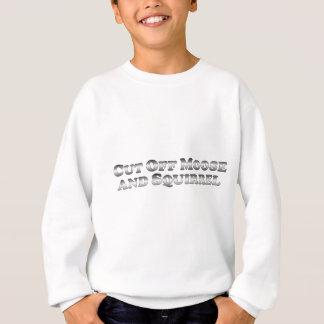Découpez les orignaux et l'écureuil - de base sweatshirt
