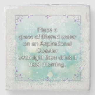 Découverte de la puissance de l'eau de se rappeler dessous-de-verre en pierre