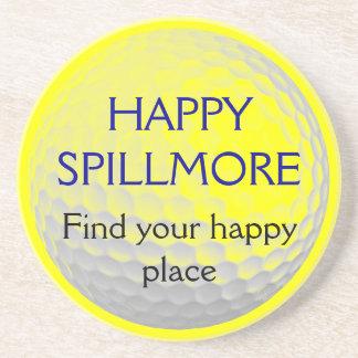 Découverte heureuse de Spillmore votre golf Dessous De Verre En Grès
