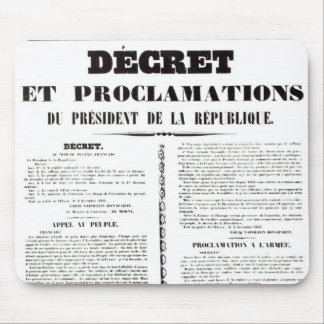 Décret et proclamation par Napoleon Bonaparte Tapis De Souris