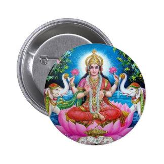 Déesse de Lakshmi de l'amour, de la prospérité, et Badge Rond 5 Cm