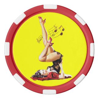 Déesse de rockabilly II Rouleau De Jetons De Poker
