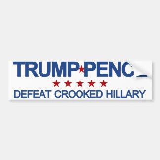 Défaite Hillary tordue de penny d'atout Autocollant De Voiture