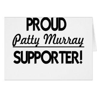 Défenseur fier de Patty Murray ! Carte De Vœux
