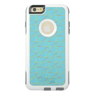 Défenseur géométrique bleu moderne d'OtterBox de Coque OtterBox iPhone 6 Et 6s Plus