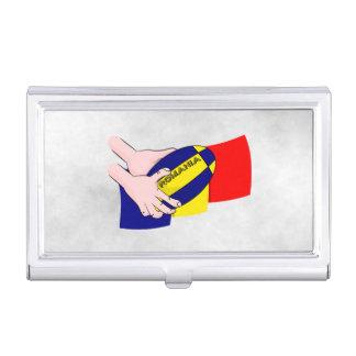 Défenseurs roumains de rugby de la Roumanie de Étuis Pour Cartes De Visite