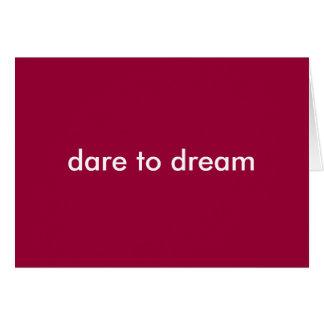 défi pour rêver le carte pour notes