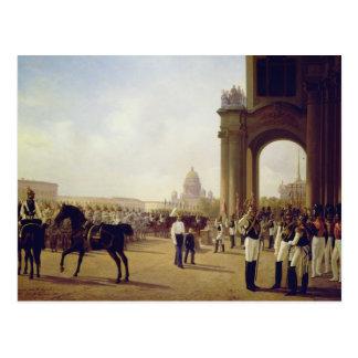 Défilé au carré de palais dans St Peterburg Cartes Postales
