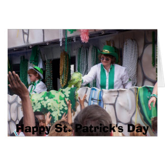 Défilé de Jour de la Saint Patrick Carte De Vœux