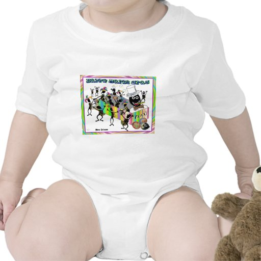 Défilé de zoulou au mardi gras bodies pour bébé