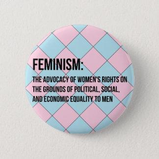 Définition du féminisme badge rond 5 cm