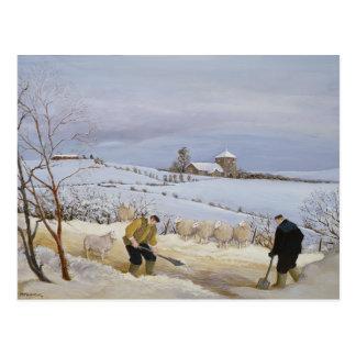 Dégagement de la neige carte postale
