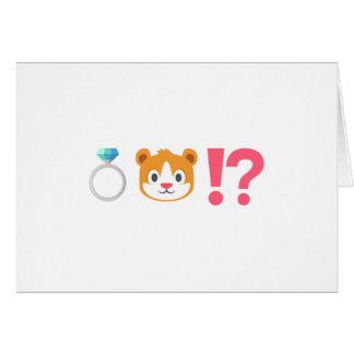 Demande drôle de porteur d'alliances d'Emoji Carte De Vœux