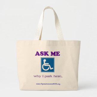 Demandez-moi pourquoi je gare ici le sac