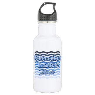 Demandez-vous la bouteille d'eau bleue de vague de