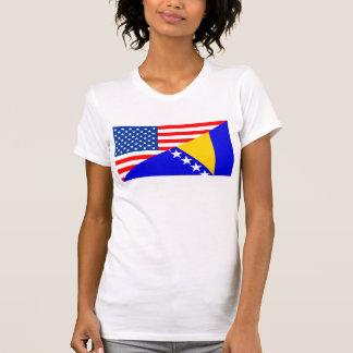 demi de drapeau des Etats-Unis Amérique T-shirt