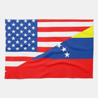 demi de drapeau Etats-Unis des Etats-Unis Amérique Serviette Pour Les Mains