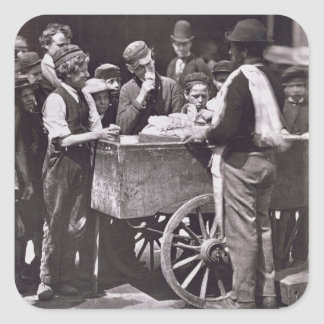 """Demi de penny glace, de la """"vie dans la rue à autocollant carré"""