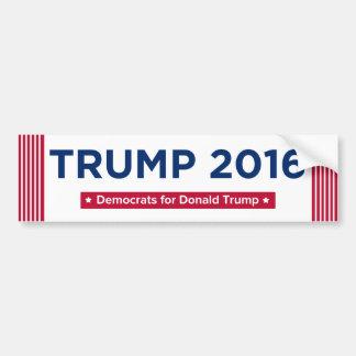 Démocrate pour Donald Trump 2016 Autocollant De Voiture