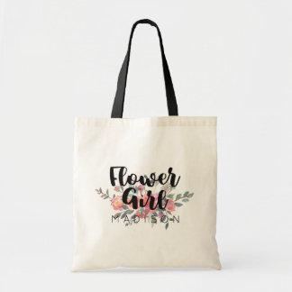 Demoiselle de honneur florale de mariage sac en toile budget