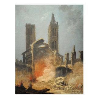 Démolition de l'église Saint-Jean-en-Grève - Musée Carte Postale