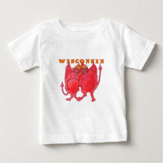 Démons du Wisconsin Cheesehead T-shirt Pour Bébé