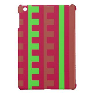 Dent de peignes de rouge et de vert de cerise coques pour iPad mini