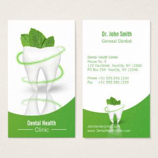 Dent en bon état médicale dentaire de feuille - cartes de visite