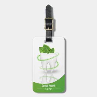 Dent en bon état médicale dentaire de feuille - étiquette à bagage