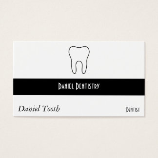 Dent symbolique cartes de visite