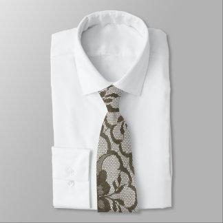 Dentelle royale moderne de musc de sépia de Brown Cravate