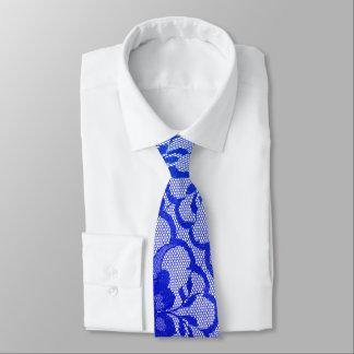Dentelle royale moderne de saphir de bleu de cravate