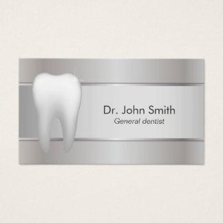 Dentiste argenté professionnel dentaire cartes de visite